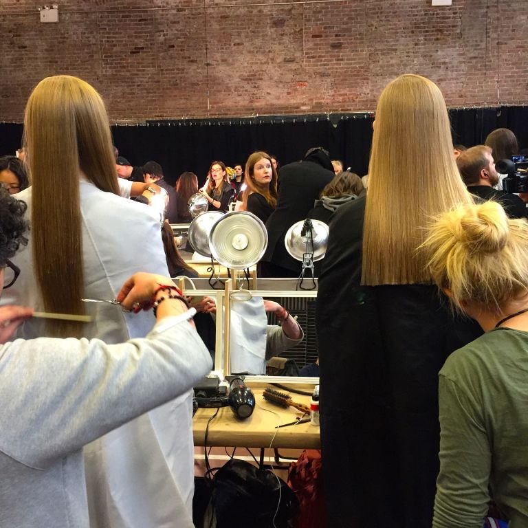 The Models At Donna Karan Wore 35000 Worth Of Hair Extensions