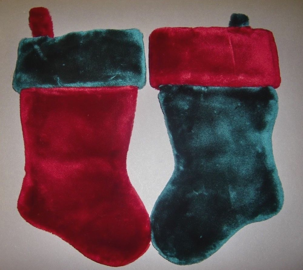 wholesale lot 6 red green plush christmas stockings new nwt free shipping usa