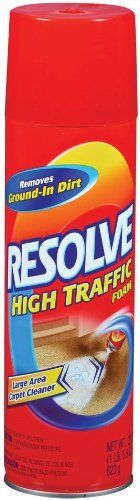 Resolve Carpet High Traffic Foam, 22 Ounce (Pack of 12) by Resolve. Save 23 Off!. $77.88. Amazon.com Product Description        High Traffic Foam 3x more dirt removal than vacuuming alone*  RESOLVE HIGH TRAFFIC Foam At a Glance:  Cleans and deodorizes large carpet areas and upholsteryProtects against dirt and the toughest grease stainsWorks well on tough stains   Compatible with theEasy Clean SystemPowerful FormulaRESOLVE High Traffic Foam has a cleaning formula to help mak...