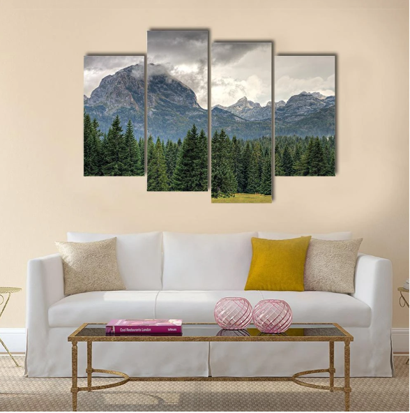 Durmitor National Park In Montenegro Multi Panel Canvas Wall Art In 2020 Canvas Wall Art Multi Panel Canvas Wall Art
