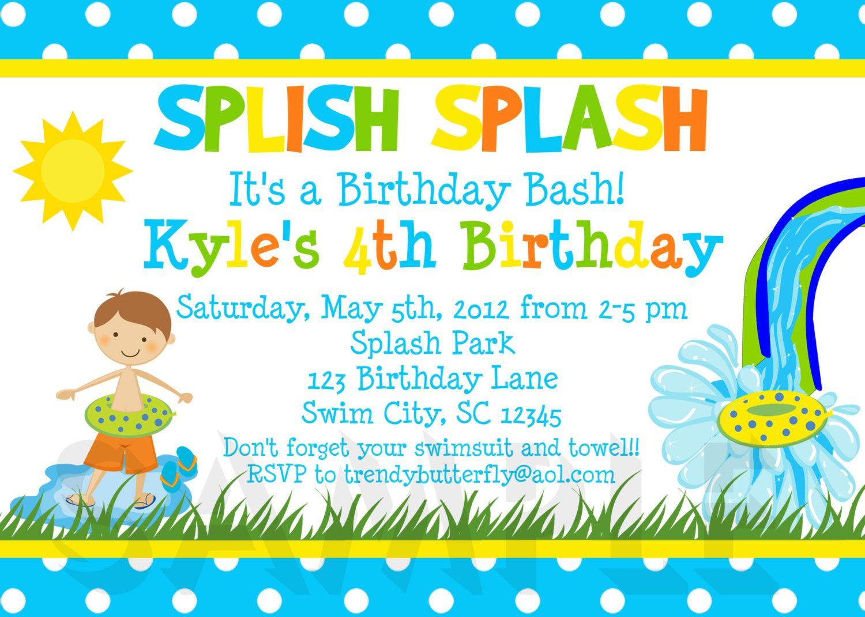Summer Birthday Party Invitations