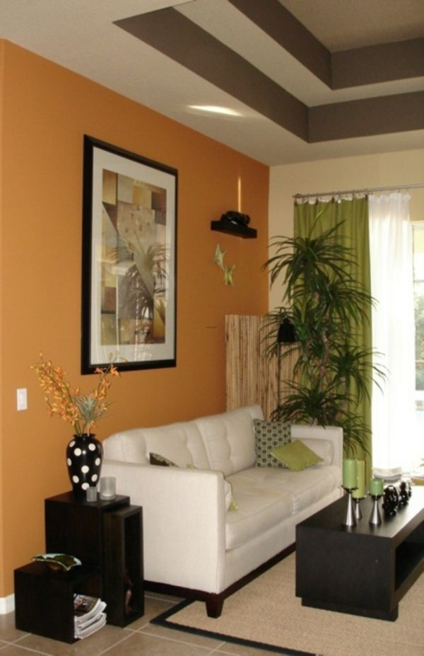 wohnzimmer streichen - 106 inspirierende ideenwohnideen ... - Wohnzimmer Orange Streichen