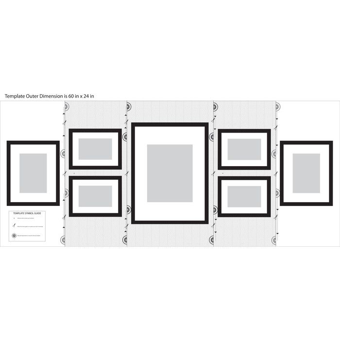 Features Solid Wood 7 Piece Wall Frame Set With Usable Artwork Easy To Hang Template For Multiple Layou Wall Frame Set Frames On Wall Gallery Wall Frames