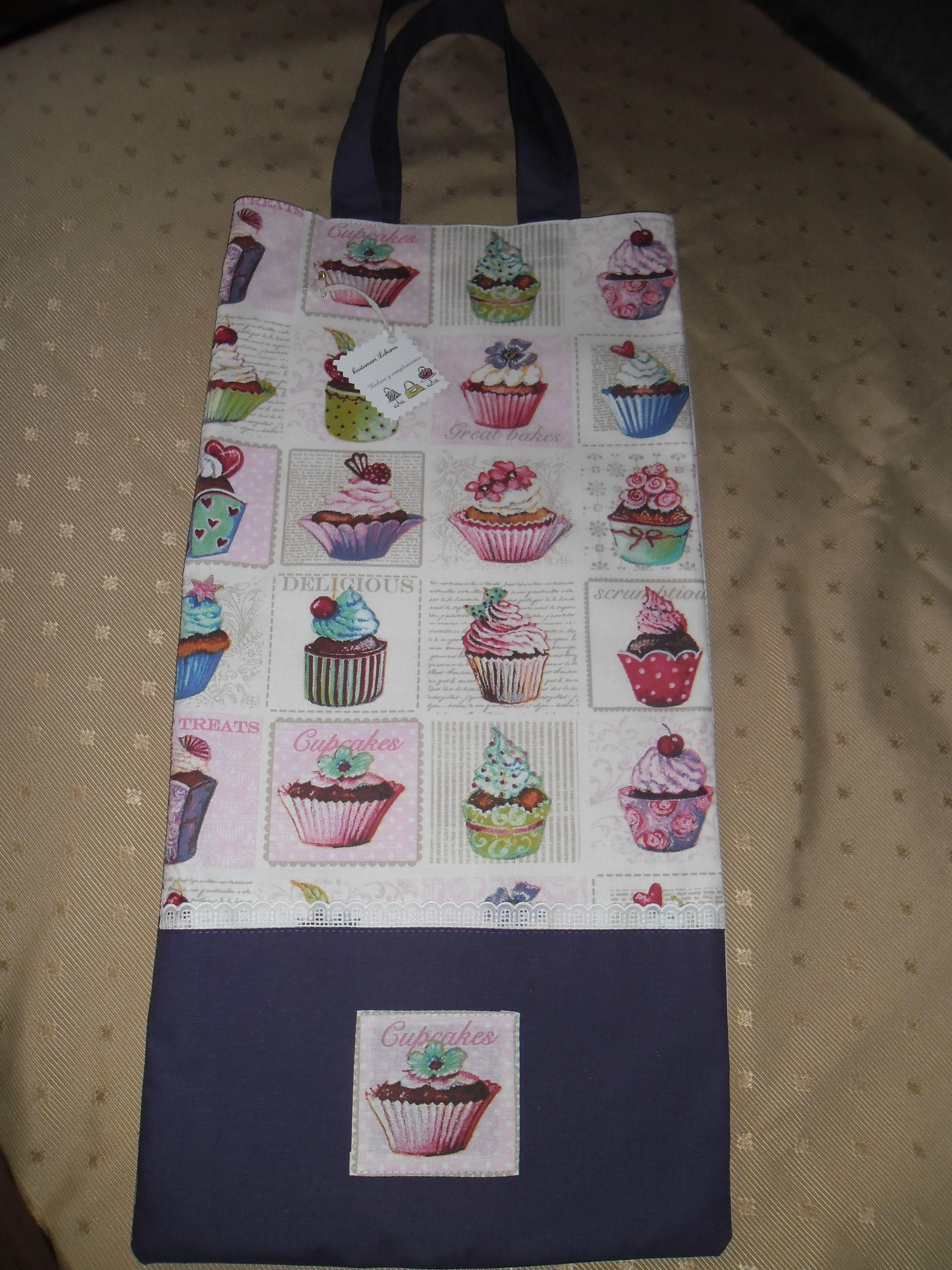 Bolsa para el pan con estampado de cupcakes detalles for Detalles para el hogar