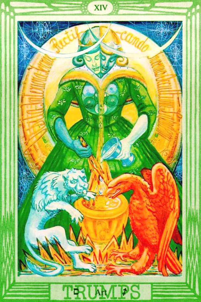 Image result for temperance book of thoth tarot