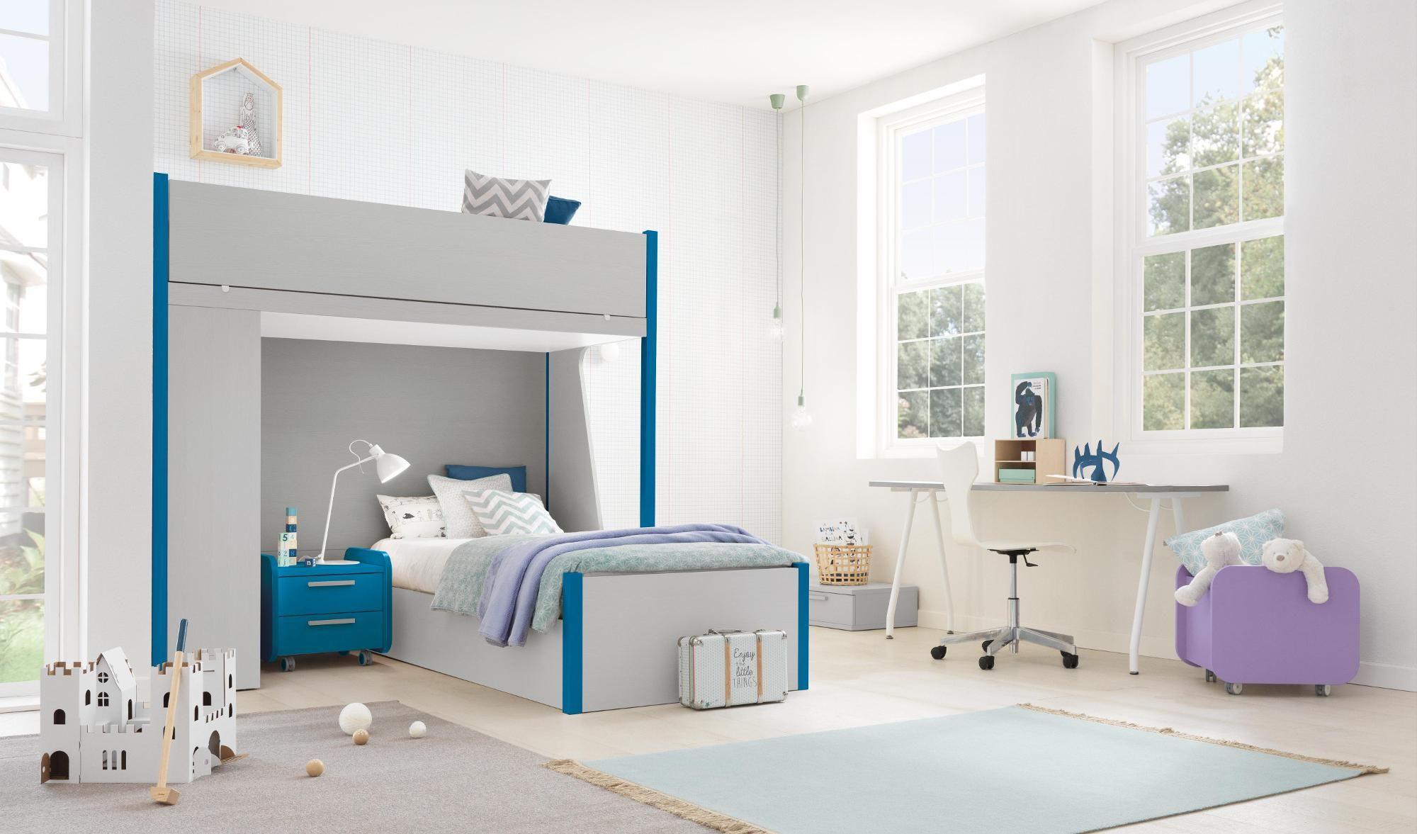 Finiture grigio e blu Arredo camere da letto per bambini e ...