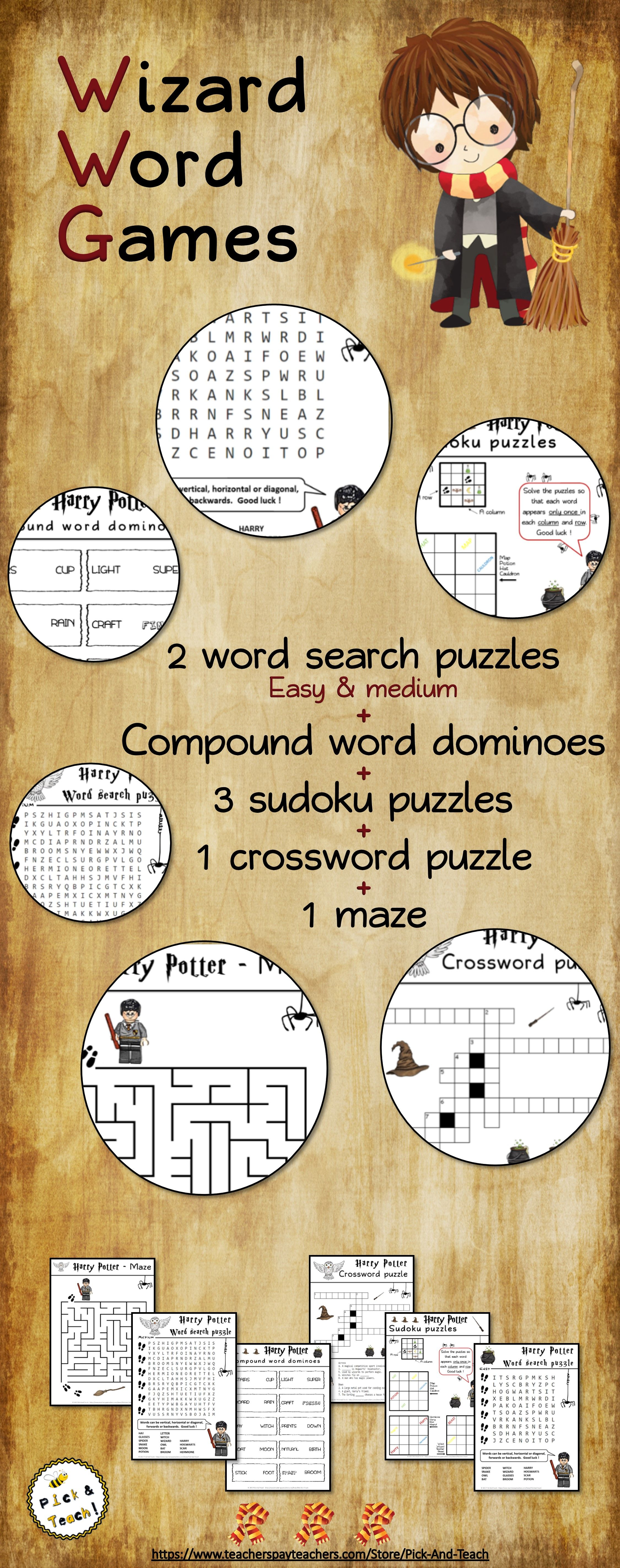 Wizard Word Games For Harry Potter Fans