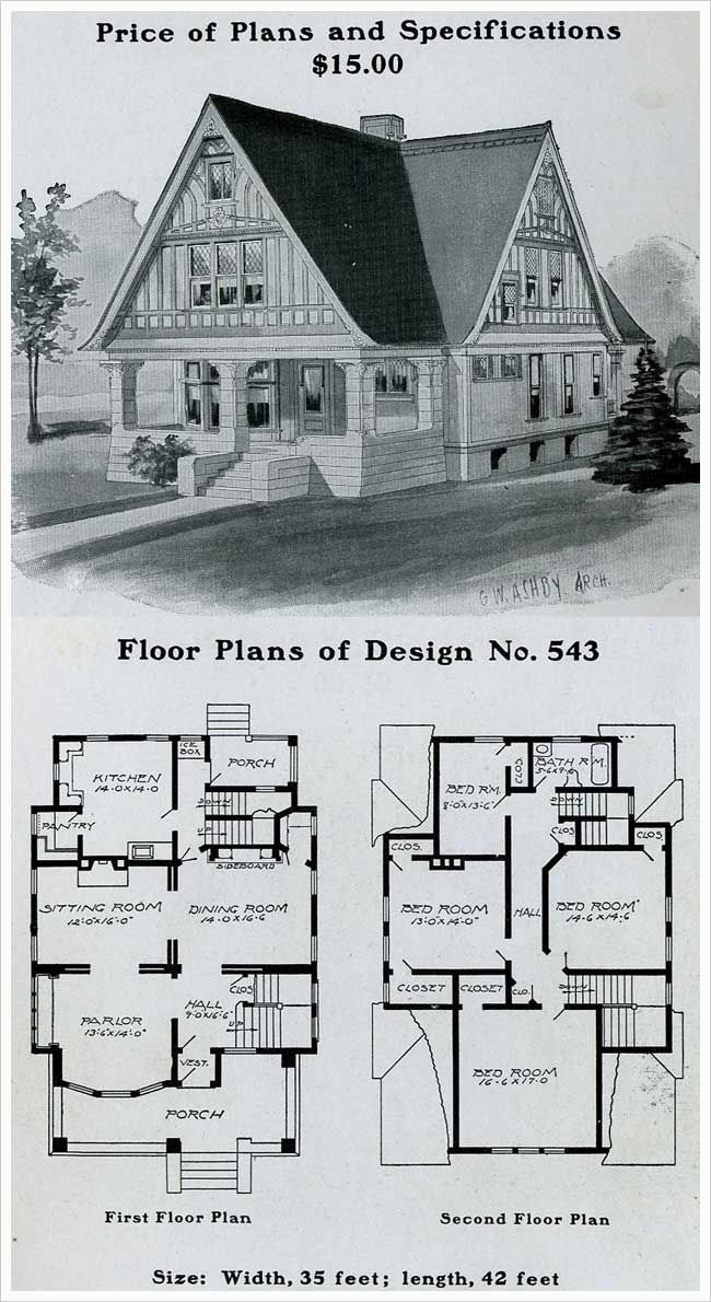 1903 Radford American Homes Only One Bathroom For A 4 Bedroom House Also Note The Area Just Outside The Kitche Sims House Plans House Plans Dream House Plans