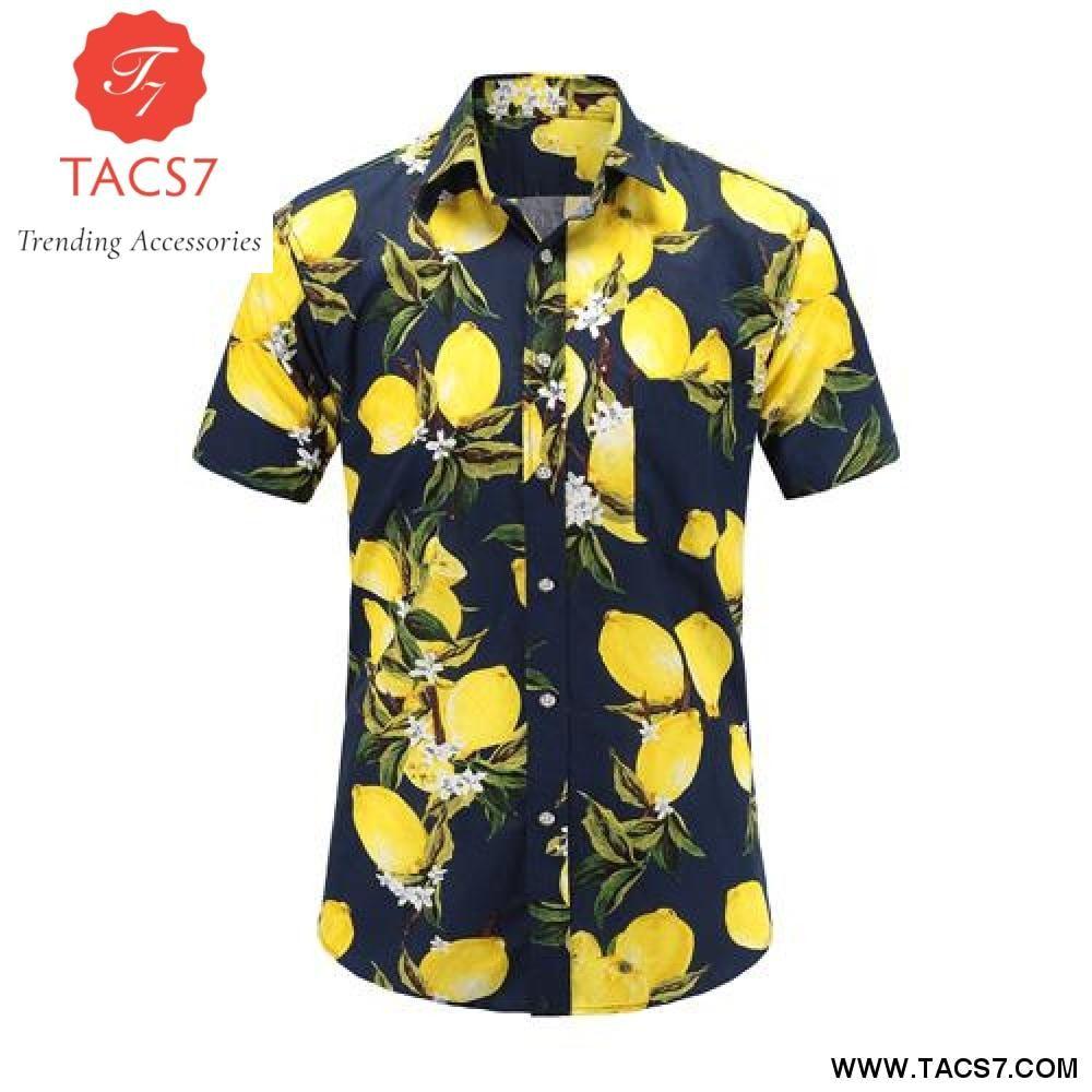 a020d6ef New Summer Mens Short Sleeve Beach Cotton Hawaiian Shirts | Products ...