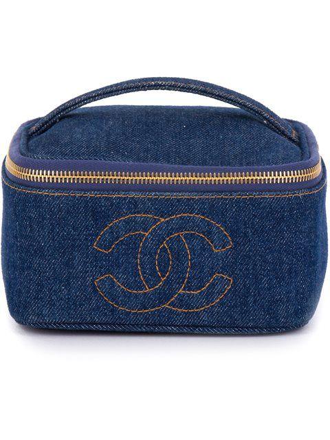 0c9e6c98284d Chanel Vintage denim cosmetic case   Epic Vintage in 2019   Vintage ...