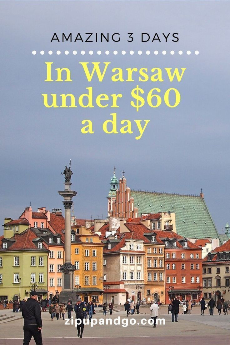 Need to plan for 3 days in Warsaw? Be sure to read on for a detailed Warsaw itinerary and find out all the information you need to plan your trip! #warsaw #poland #travelitinerary