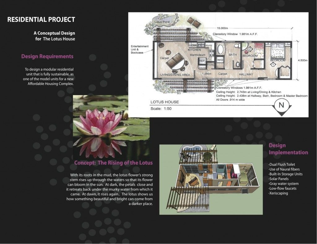 Concept Board For A Residential Interior Design Project The Rising Of Lotus