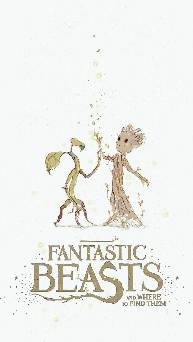 Fantastic Beasts Bowtruckle And Baby Groot Fantastic Beasts