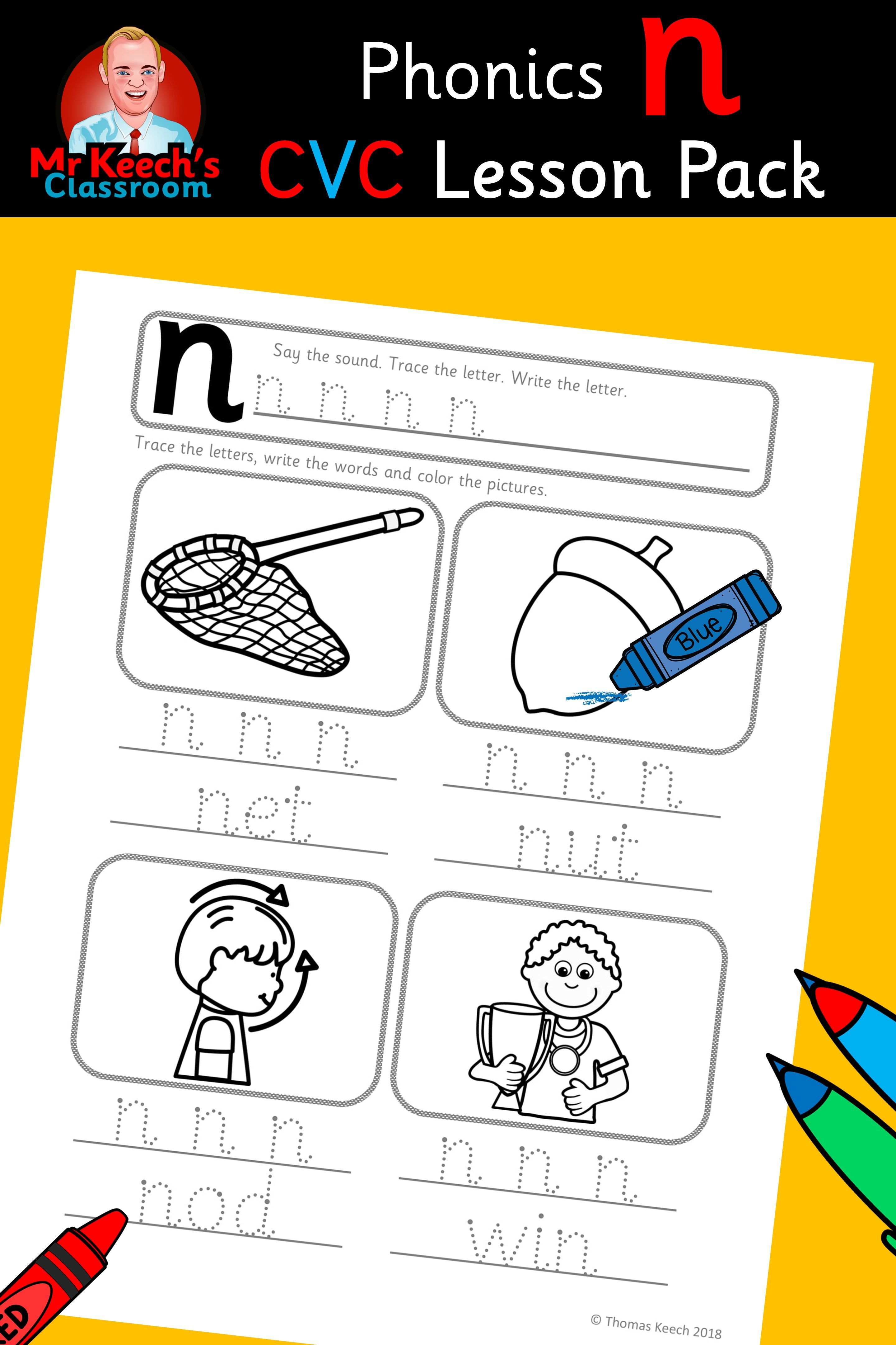 Phonics Worksheets Lesson Plan Flashcards This Nn Lesson Pack Contains Everything You Need To Teach The N Phoneme Phonics Worksheets Jolly Phonics Phonics [ 4320 x 2880 Pixel ]