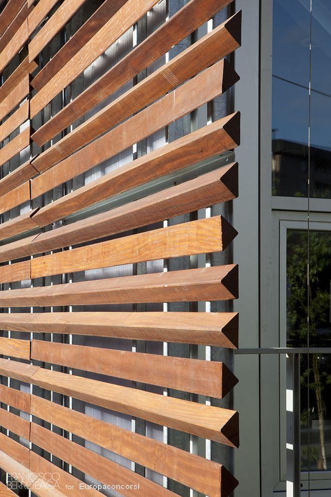 Galdakao spain colegio gandasegi luis mar a uriarte - Wooden cladding for exterior walls ...