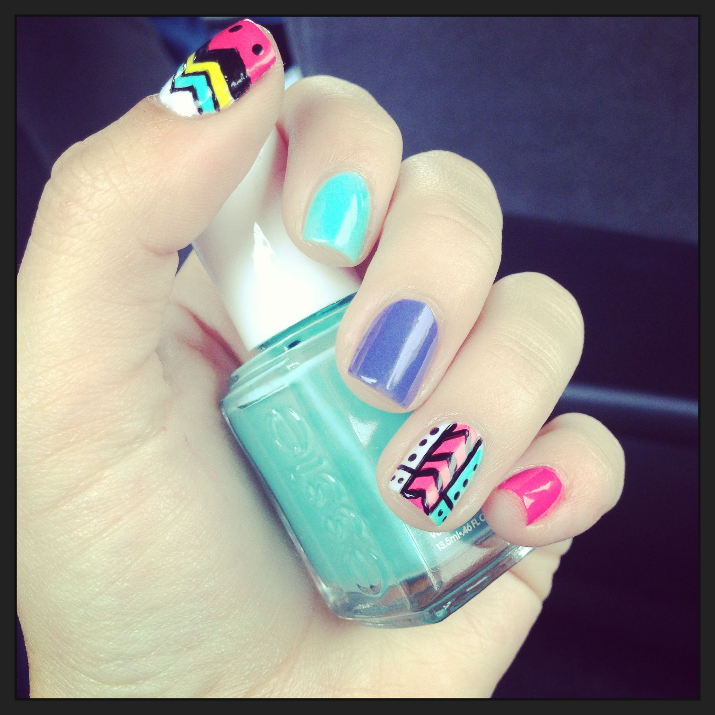 hipster nails nails' lovers