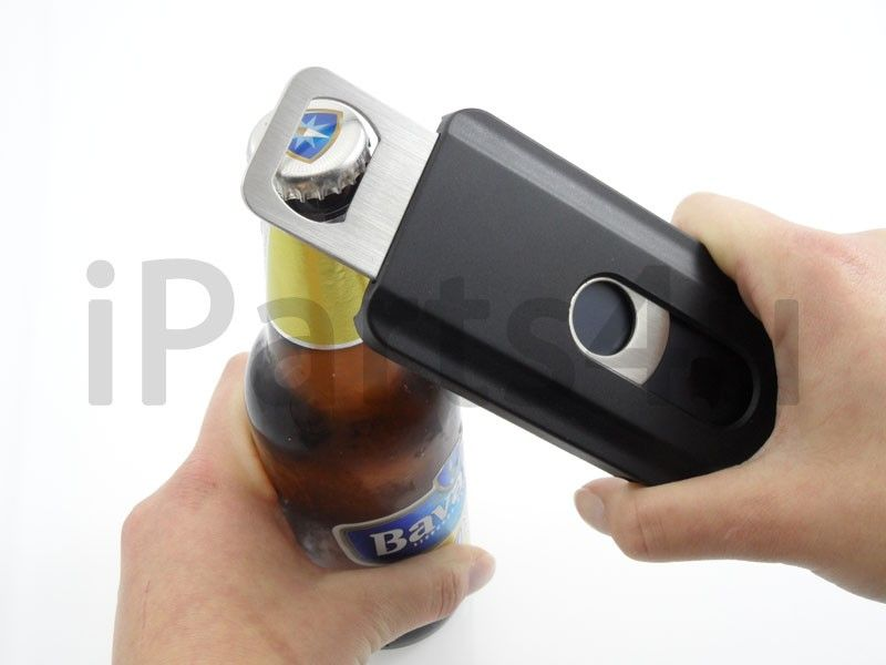 iphone 5 bier flaschen ffner schwarz ipad zubeh r iphone. Black Bedroom Furniture Sets. Home Design Ideas