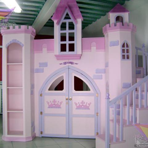 Camas literas para ni as con forma de castillo a medida - Cama de nina ...