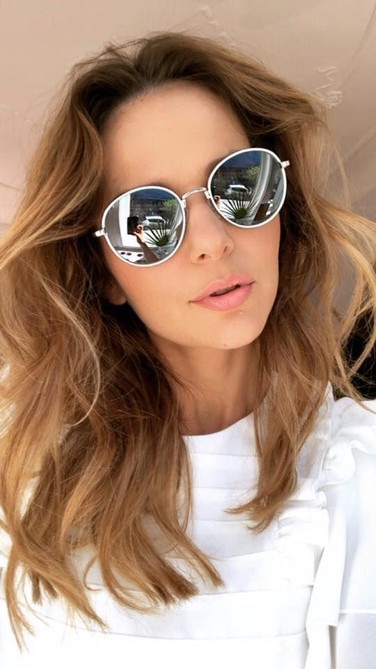 Paulina Sykut Jezyna In Round John Lennon Style Sunglasses