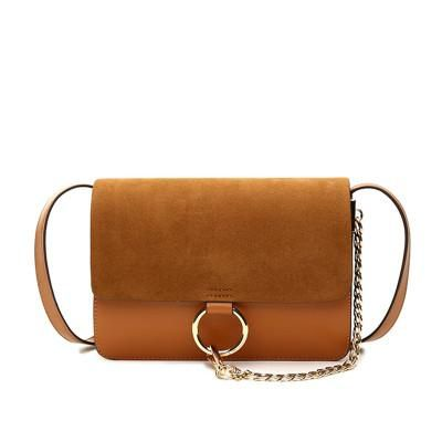 'Anja' Suede Leather Cross Body Bag