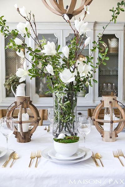 Green and White Easter Tablescape | tablescapes | Pinterest | Easter ...