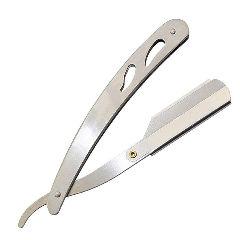 Men Straight Stainless Steel Razor Barber Folding Shaver Knife Hair Removal Tool Barber Razor Shaving Shaved Hair