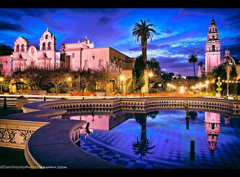 Balboa Park: San Diego's Urban Oasis. © www.SamAntonio.com #travel #photography #celebration #Panamacanal #night #vacation #sandiego #reflections