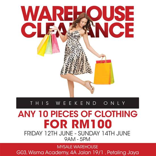 12-14 Jun 2015  MYSALE Warehouse Clearance  cf8df159ca