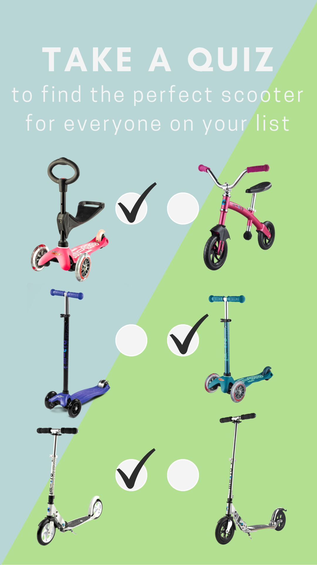 Take Our Short Quiz To Find Out Which Scooter Is Right For You