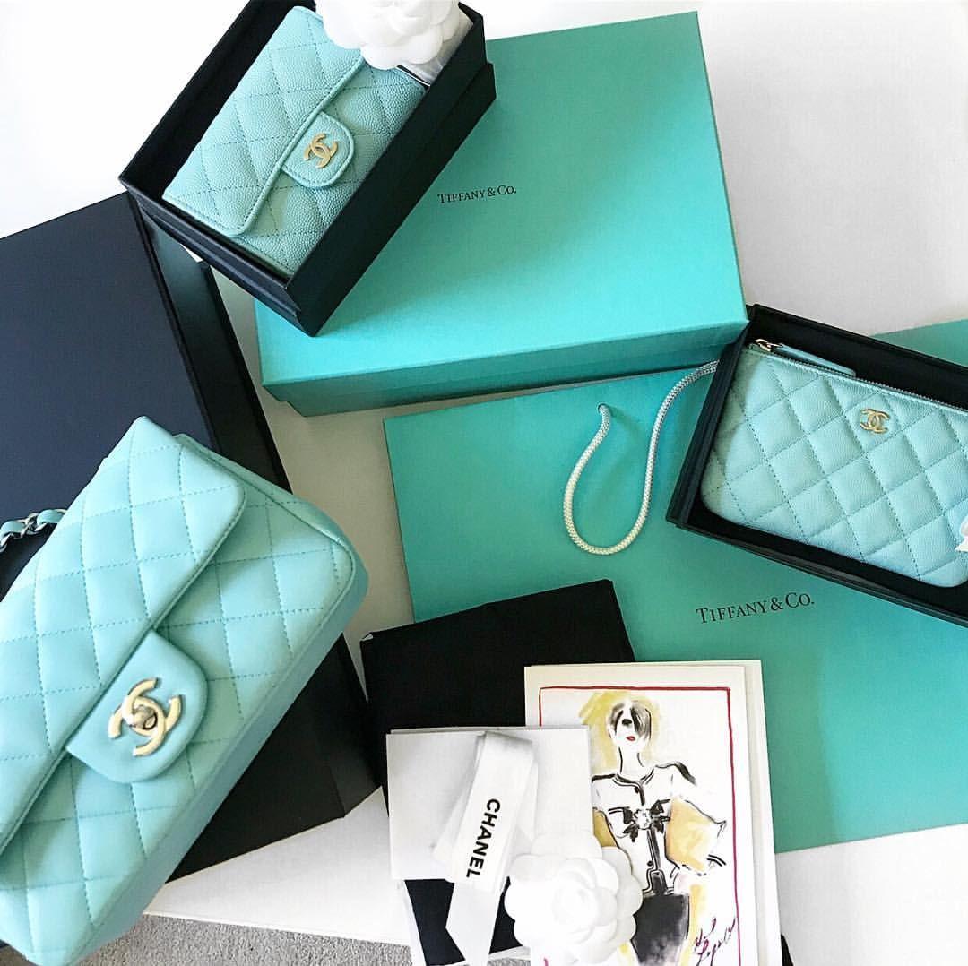 24f61307fac6 Chanel cruise 2019 Tiffany blue