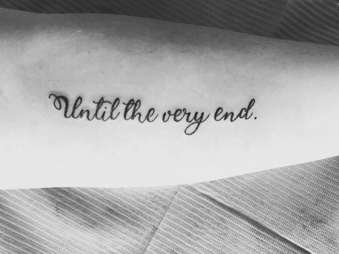 """Harry Potter Until The Very End Quote Quora: Harry Potter Tattoo - """"Until The Very End."""""""