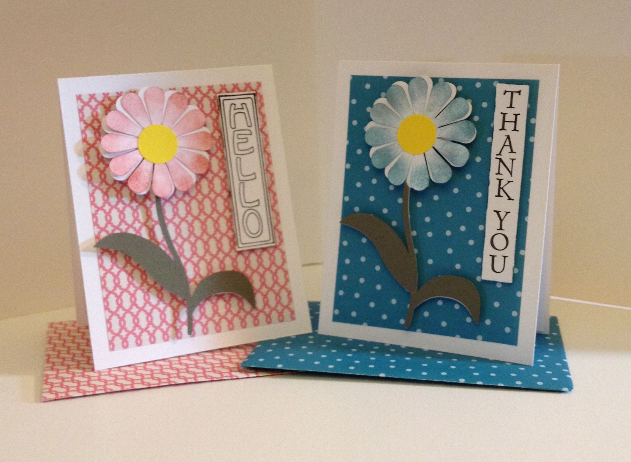 Snc Daisy Duo For A Swap Cards Handmade Handmade Cards