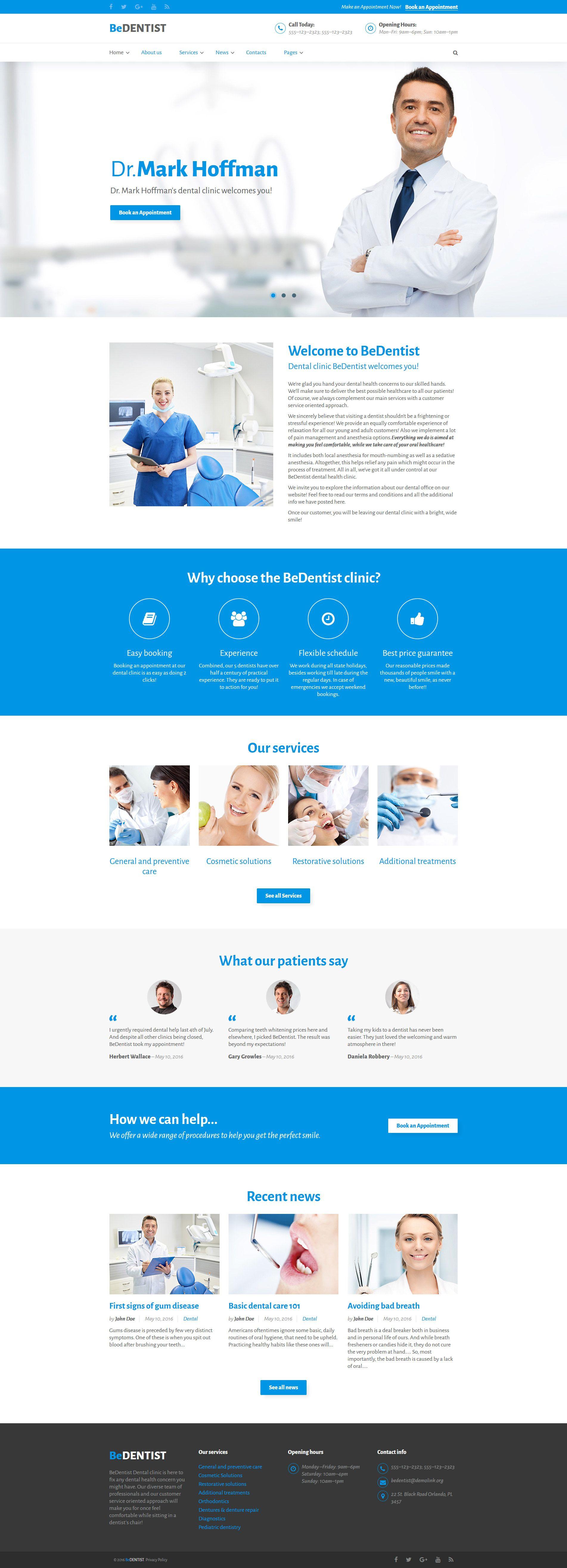 dentistry responsive website template httpwwwtemplatemonstercomwebsite