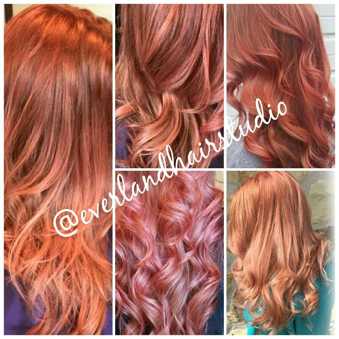 The Many Shades Of Rose Gold Some Can Be More Peachy Gold Some Very Pink Rosegoldhaircolor Fallhair Pre Natural Red Hair Hair Color Rose Gold Hair Styles