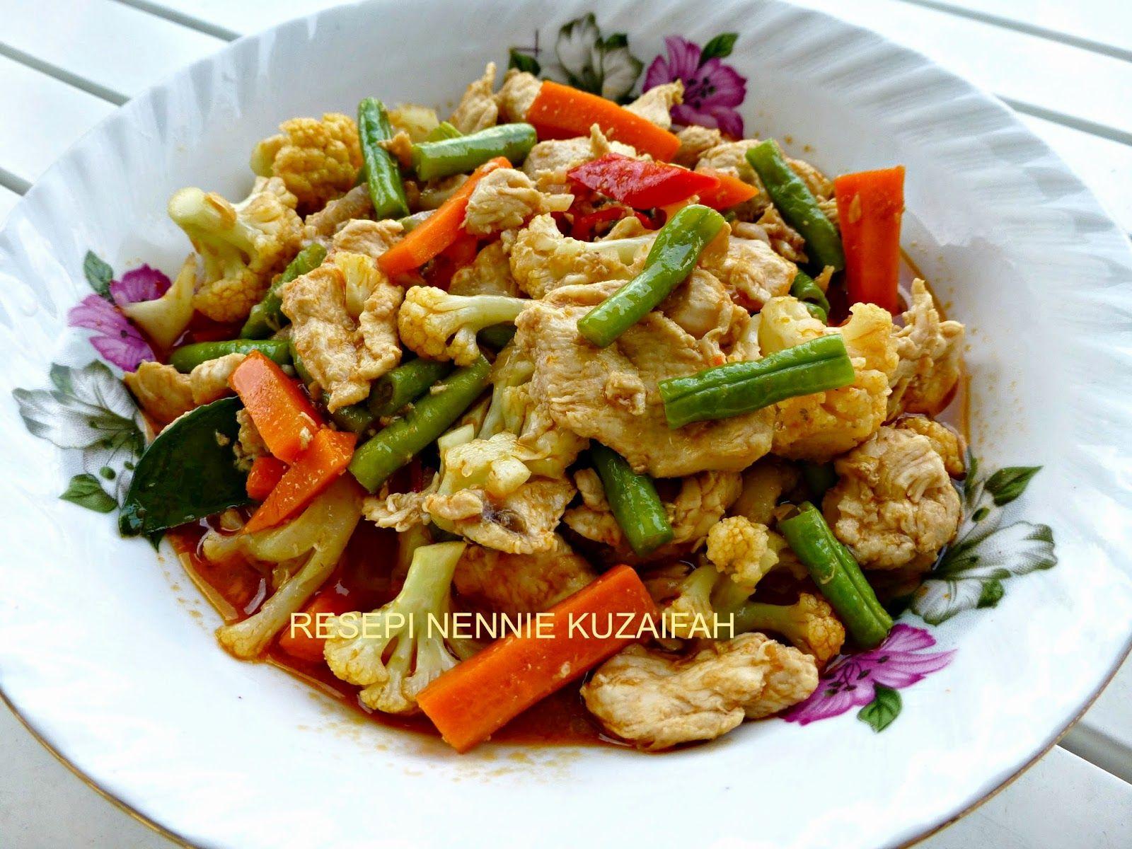 Resepi Nennie Khuzaifah Lauk Hari Ni Paprik Ayam Memasak Resep Makanan Makanan