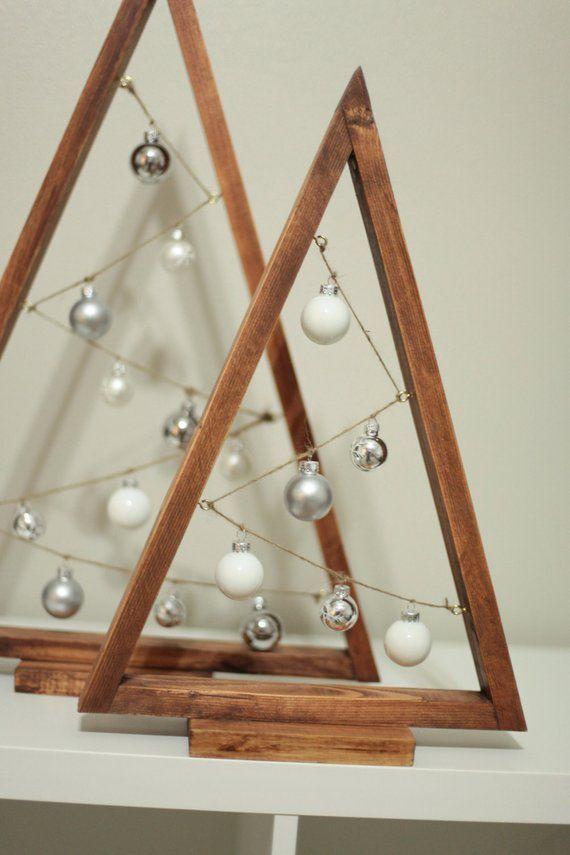 Christbaumkugel Baum Weihnachtsbaum A-Frame Rahmen Weihnachtsbaum Holz #holzdekoration