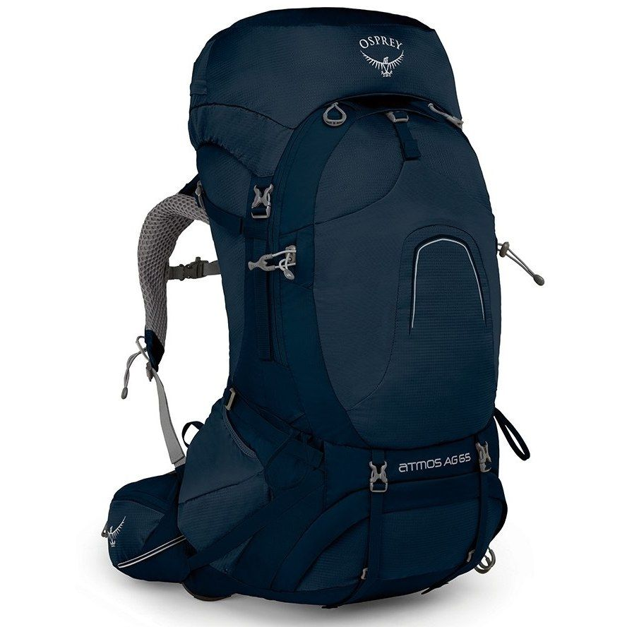Osprey Atmos Ag 65 Backpack Unity Blue In 2020 Osprey Atmos Osprey Packs 50l Backpack