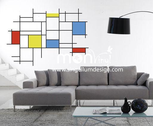Vinilo Mondrian, Vinilos Decorativos, Vinilos, Vinilo, Vinilos - decoracion de paredes