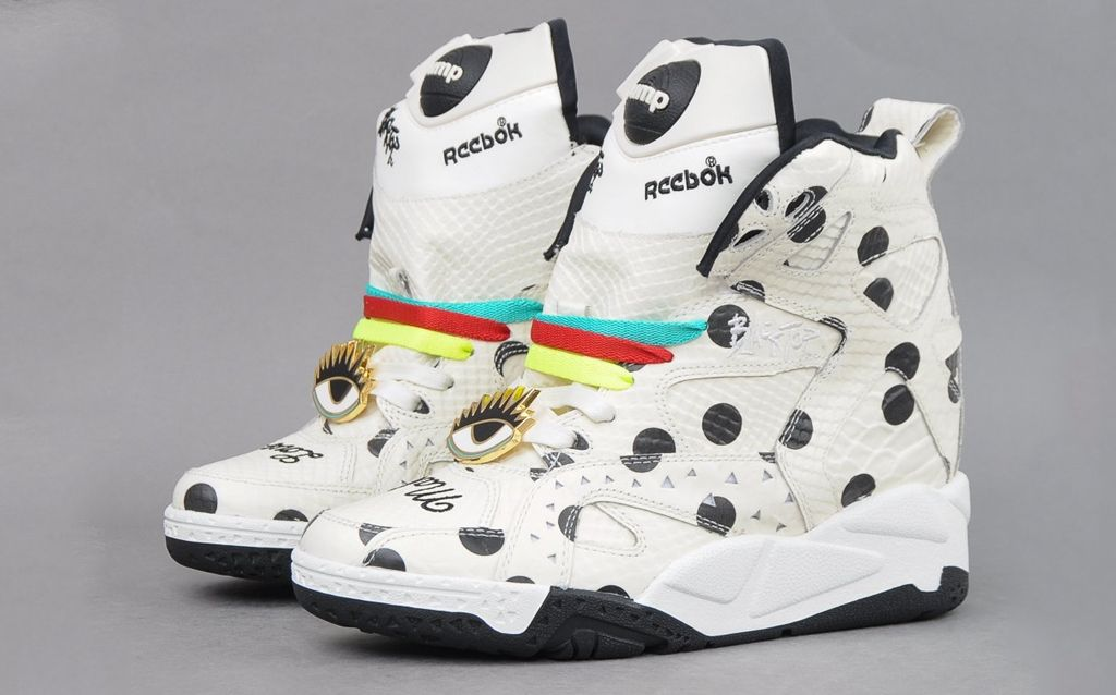 more photos 04e3b b24fc Reebok Blacktop Pump Wedge Melody Ehsani  reebok  imprimé  compensée  pois   pump