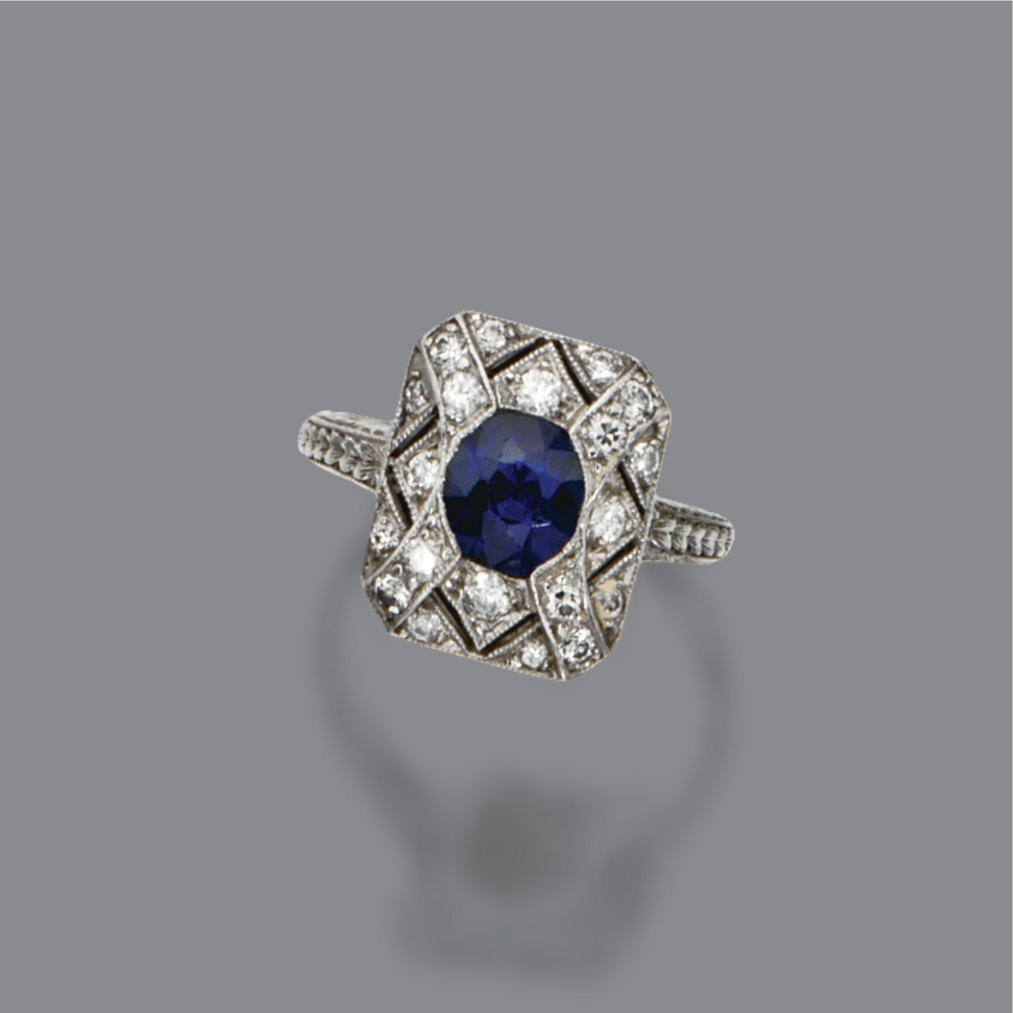 tiffany company ring grogan auction september platinum ca the gold sapphire diamond and