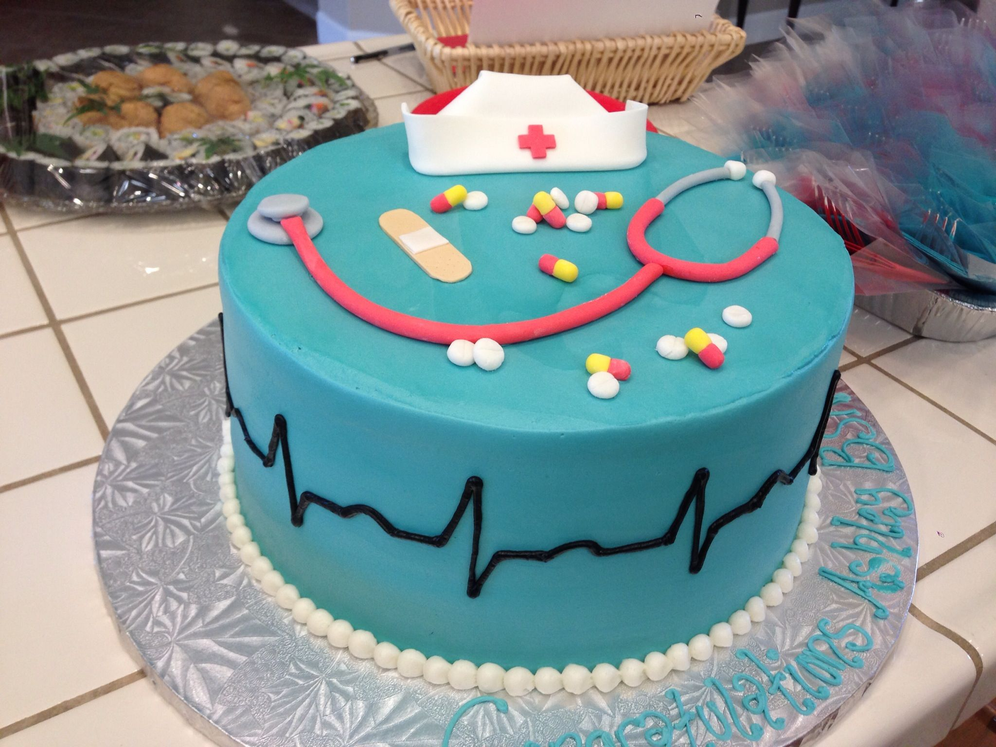 Nursing Schools Near Me >> My Amazing Cake at my Nursing Graduation Party! | cake decorating | Nursing graduation, Nursing ...