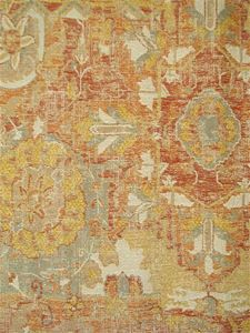 Anatolian Empire Sunrise   Traditional SouthEast Asian Tribal Rug Tapestry  Jacquard Furniture Upholstery Fabric. Great