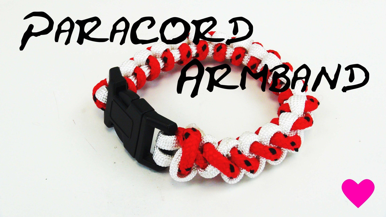 Paracord bracelet tutorial zweifarbig gestreift basic eifaches Armband selber…