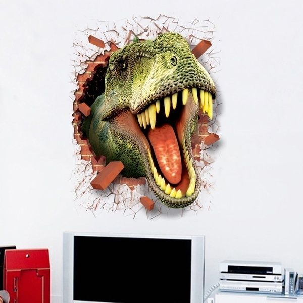 Cool Jurassic World Park D Dinosaurs Wall Stickers Kids Rooms - 3d dinosaur wall decalsd dinosaur wall stickers for kids bedrooms jurassic world wall