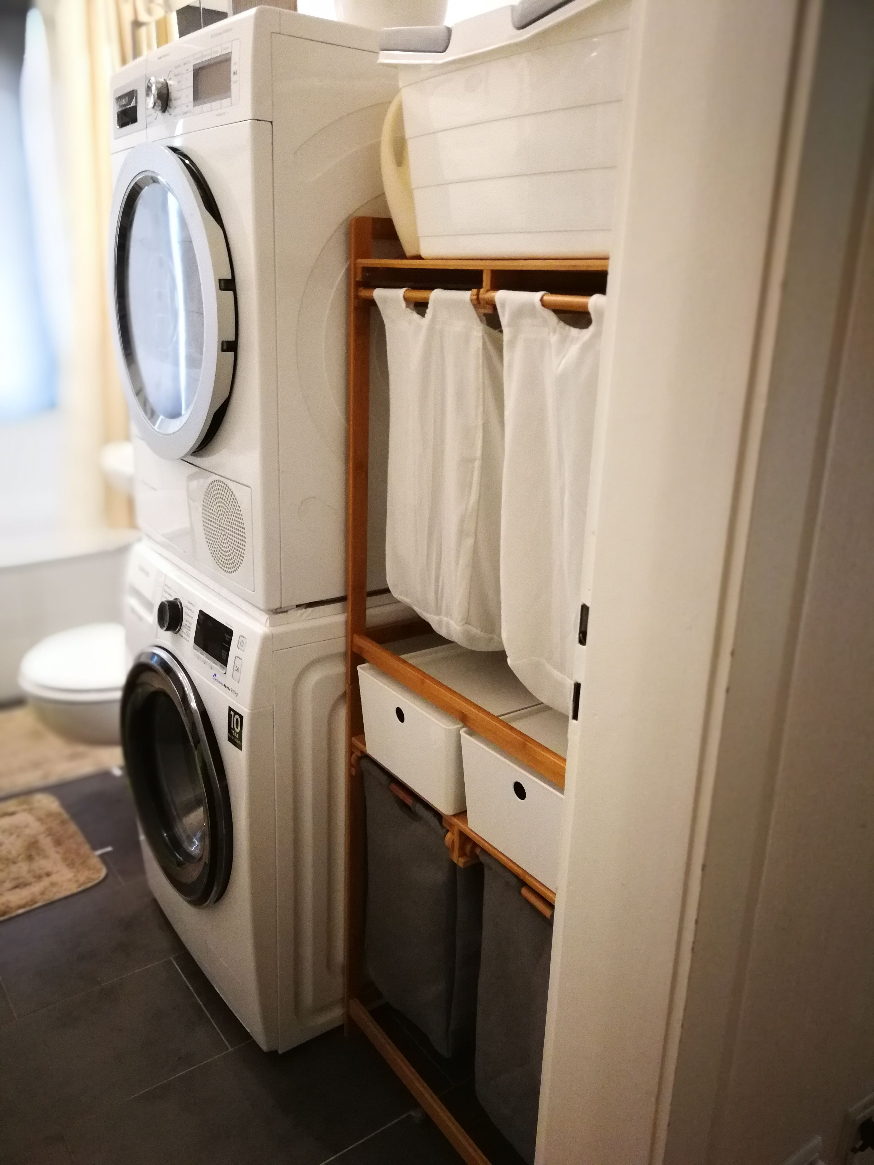 Mein neues Wäschestystem Zwar musste ich die zwei Wäschekörbe (ein Wäschekorb beinhaltet zwei