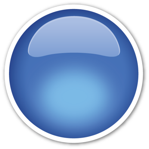 Large Blue Circle Emoji Emoji Stickers Blue