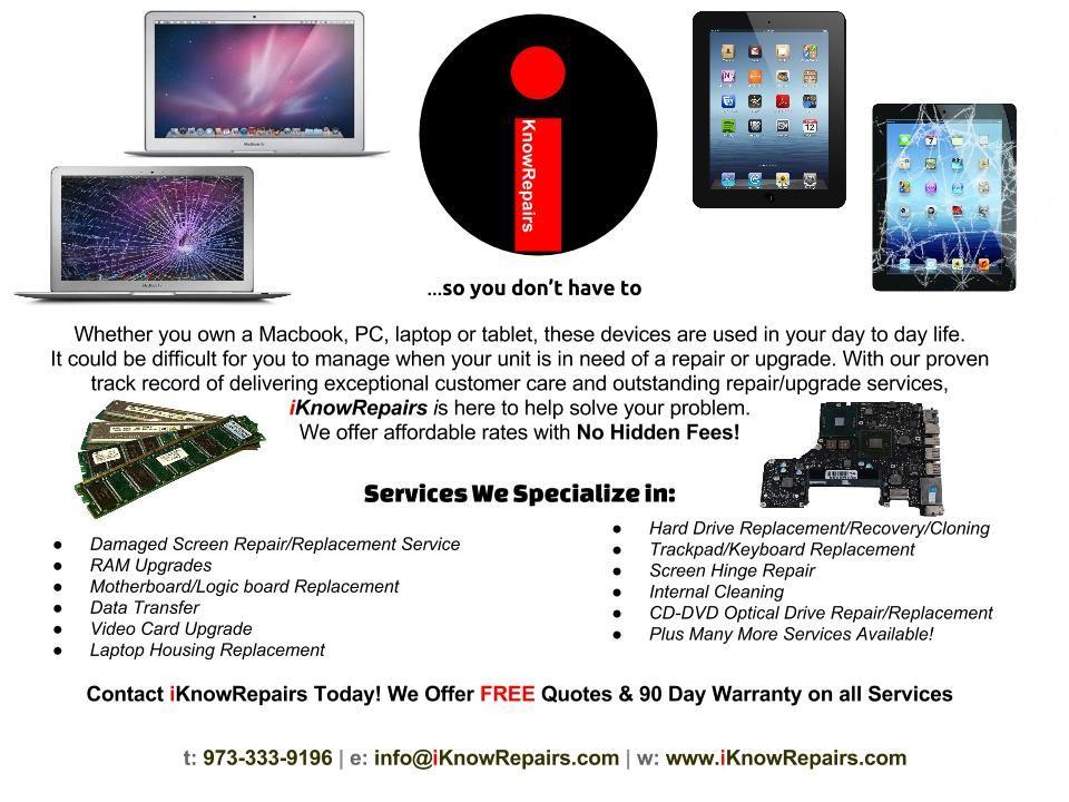 Affordable Computer Repairs! Macbook repair, Ipad repair