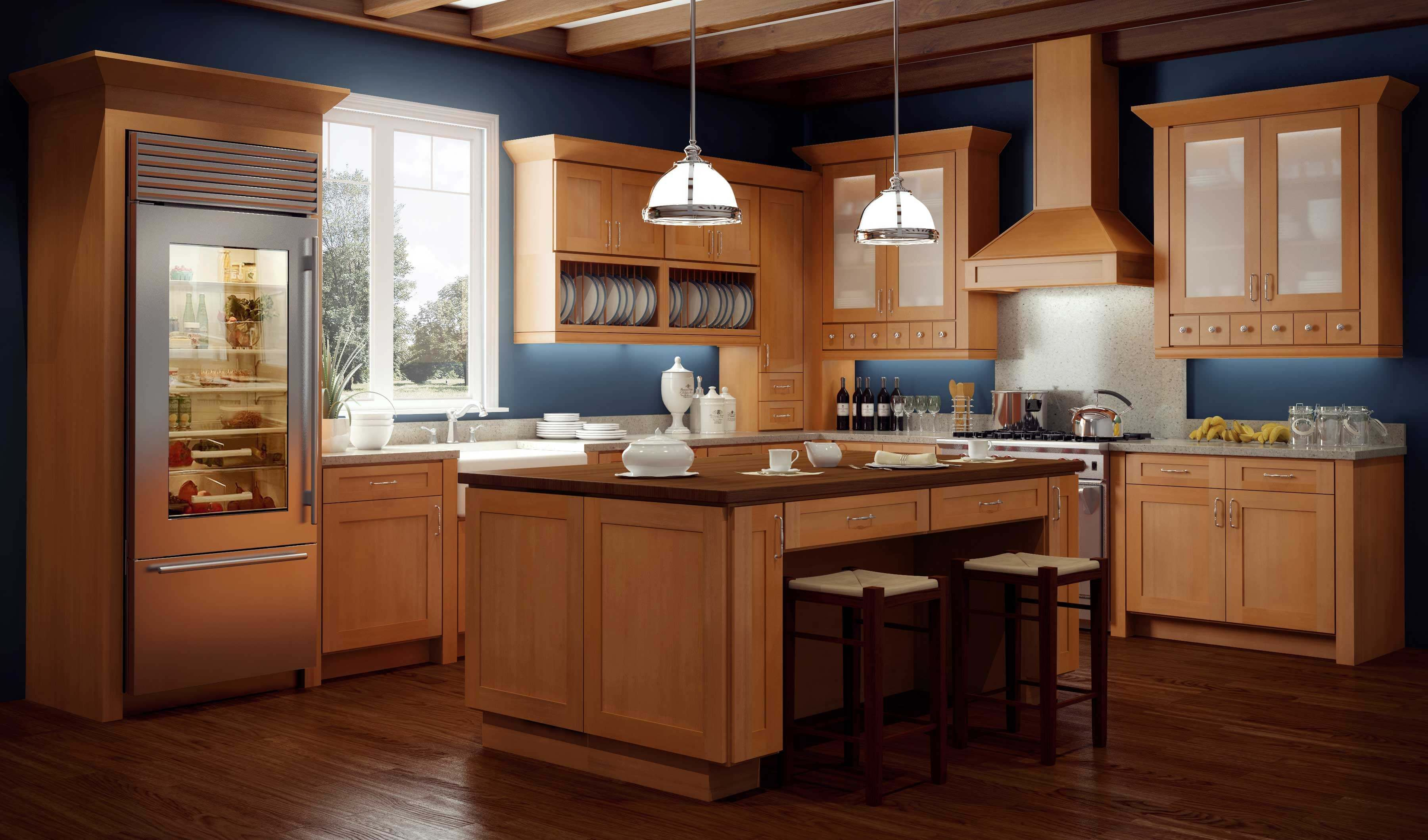 Our #RTA Almond Shell #Kitchen Cabinets features a design with a ...