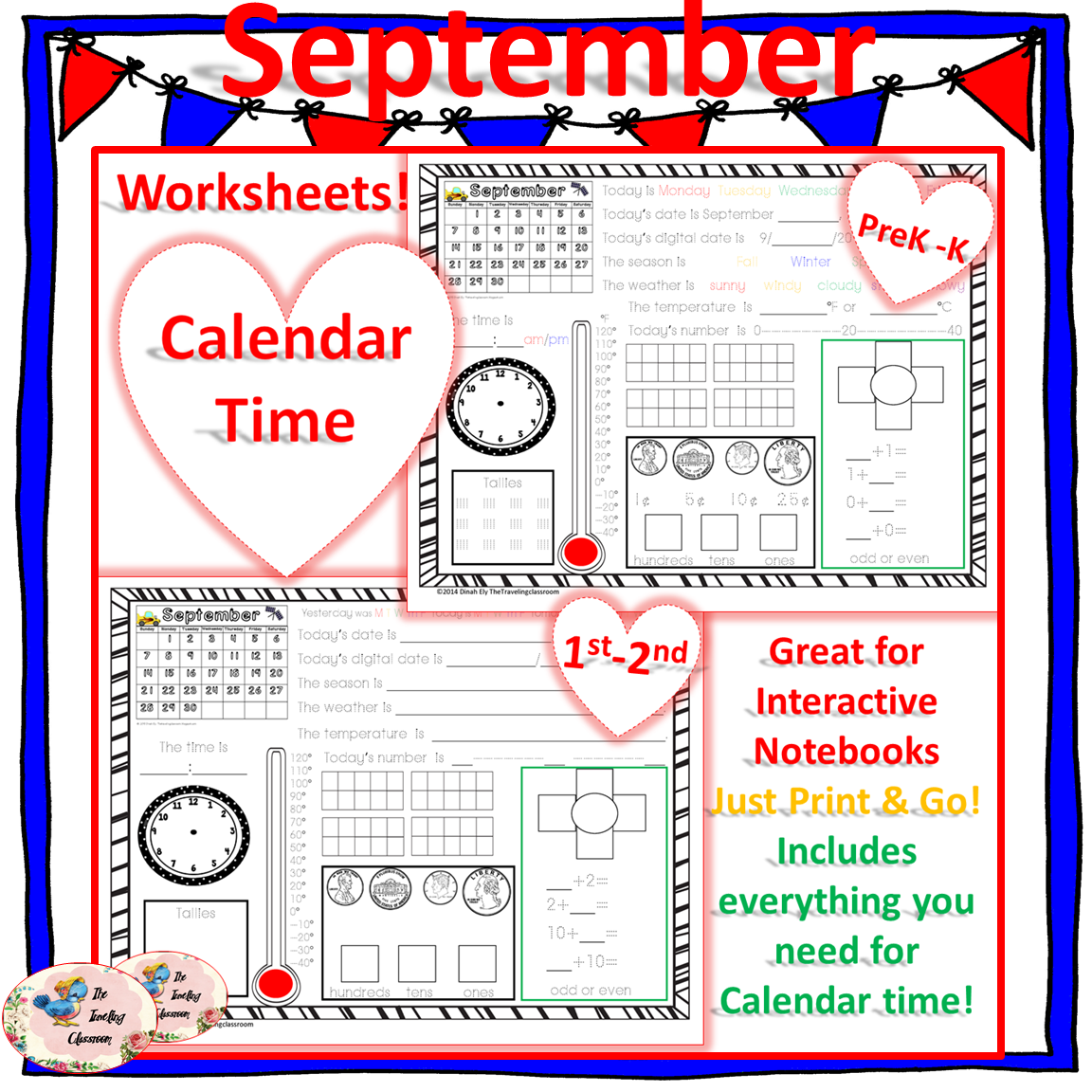 Morning Work Calendar Time Worksheets