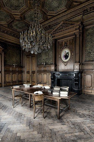 Ghost Writer - Boardroom of an abandoned University in Liege,...